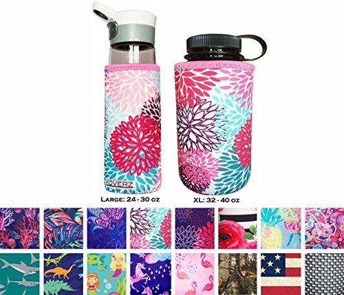 Koverz Neoprene 24-30 oz Water Bottle Insulator Cooler Coolie - Petals by Koverz