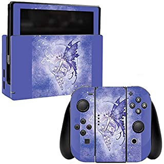 MightySkins Skin Compatible with Nintendo Switch - Purple Moon | Protective, Durable, and Unique Vinyl Decal wrap Cover | Easy to Apply, Remove, and Change Styles | Made in The USA