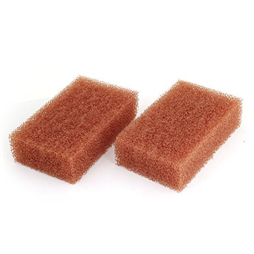 Water & Wood 2 Pcs Brown Sponge Waxing Washing Cleaning Pad 16 x 10 x 4.5cm for Car with Car Cleaning Cloth