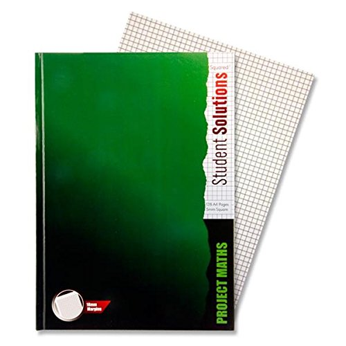 A4 Project Maths 5mm Square Lined Hard Cover Notebook, 128 Pages, by Student Solutions by Student Solutions
