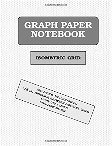 isometric graph paper notebook 120 pages 1 8 0 125 inch