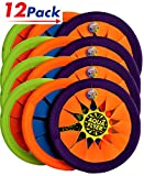 Water Frisbee Flyer by JA-RU | Beach Toys Swimming Pool Soft Flying Disc Hours of Beach Fun in The Sun Pack of 12 | Item #1031