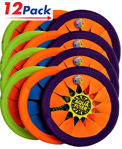 Water Frisbee Flyer by JA-RU | Beach Toys Swimming Pool Soft Flying Disc Hours of Beach Fun in The Sun Pack of 12 | Item #1031 by JaRu