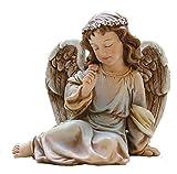 Napco 18415 Park Place Sitting Angel Figure Garden Statue, 7.5″