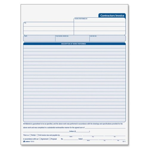 Wholesale CASE of 10 - Adams Contractor's Invoice Book-Contractors - Wholesale Agreement