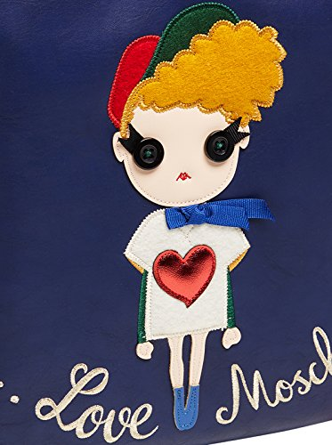Love Moschino , Sac bandoulière pour femme bleu bleu