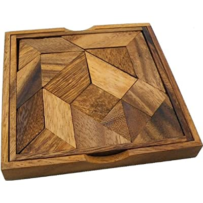 Winshare Puzzles and Games Complex Tangram - Wooden Brainteaser Puzzle: Toys & Games