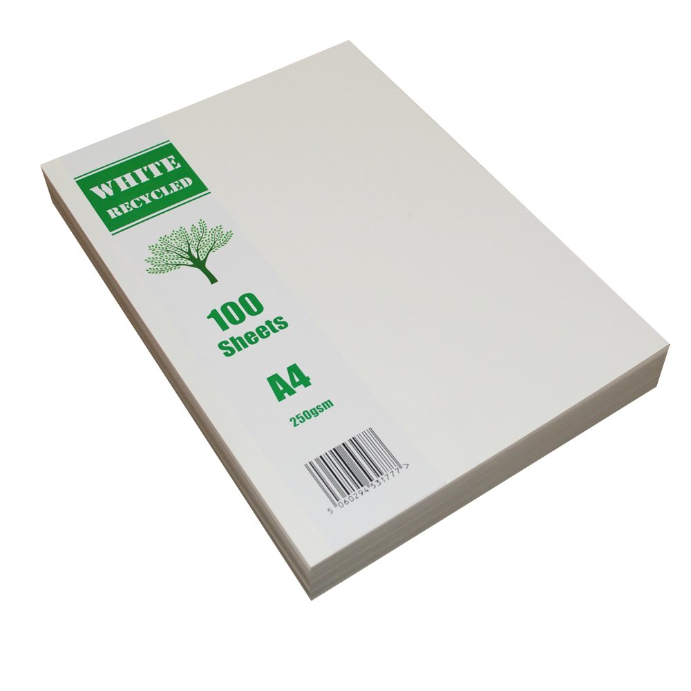 Craft UK carta riciclata A4/2255/ /bianco confezione da 100/fogli