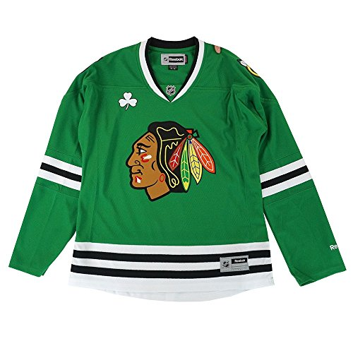 Chicago Blackhawks Women's Reebok Green Premier Jersey M