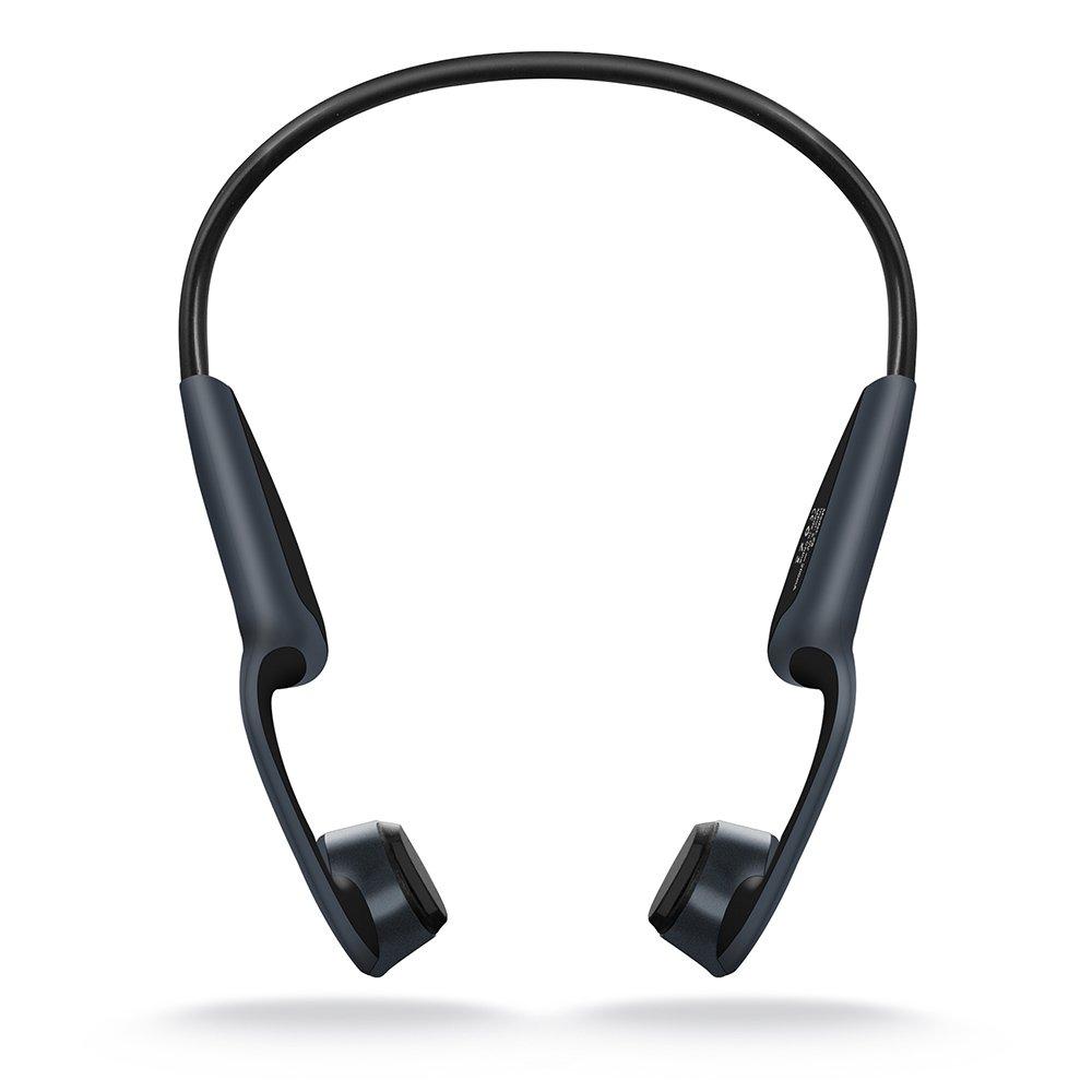 AIPROV 2018 Auriculares de Conducción Ósea con Bluetooth 5.0, Función de Hueso Inalámbrico Auricular con Micrófono Manos Libres Estéreo para Deportes de ...