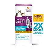 Comfort Zone Multicat Calming Diffuser Refill only, New 2X Pheromones for Cats Formula, 2 Pack