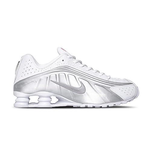 timeless design 39d9a a8c50 Amazon.com | Nike Shox R4 (White/Metallic Silver 12 ...