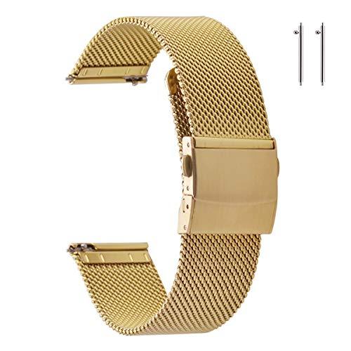 🥇 Correas de Reloj de Malla de Acero Inoxidable EACHE para Hombres y Mujeres