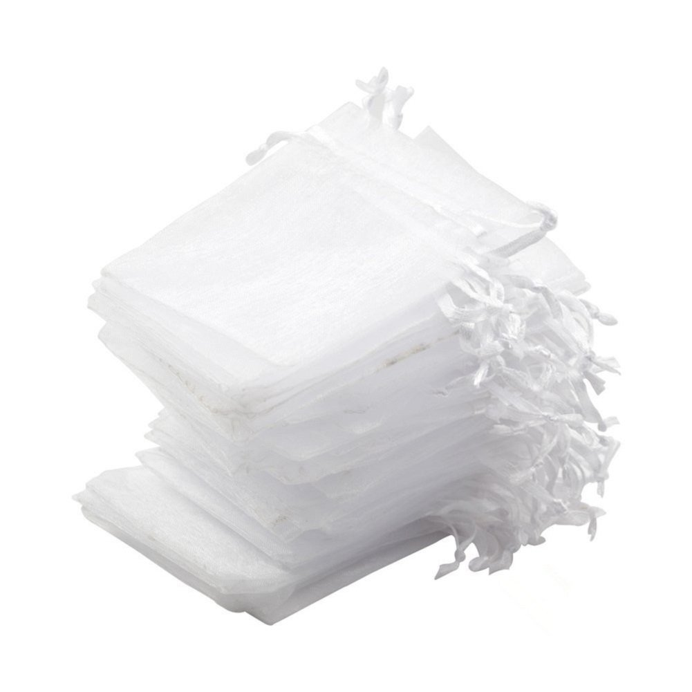 Rose Equal Sign 50PCS 5x7 Inch Organza Drawstring Pouches Jewelry Party Wedding Favor Gift Bags