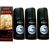 3 X Viga 50000 (Delay Spray for Men) with Vitamin E - Expedited International Delivery - '' Shipping Only By - USPS / FedEx ''