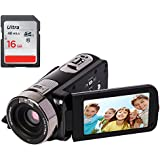 YSANY Remote Control IR Night Vision Handy Camera Camcorders Full HD 1080P 24.0MP 16X Digital Zoom Digital Video Camcorder with 3.0 LCD 270°Rotation Screen (Free 16GB SD Card)