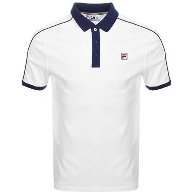 Fila Vintage Klein Polo Shirt White/Navy: Amazon.es: Ropa y accesorios
