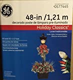 G.E. 48 In Holiday Classics Pre-lit Decorated Lamp Post