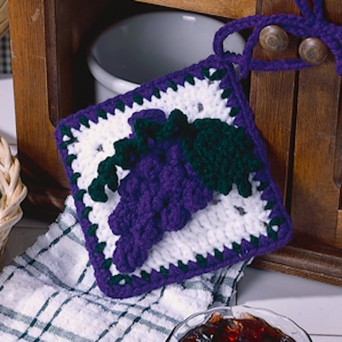 Grapes Towel Topper Crochet ePattern