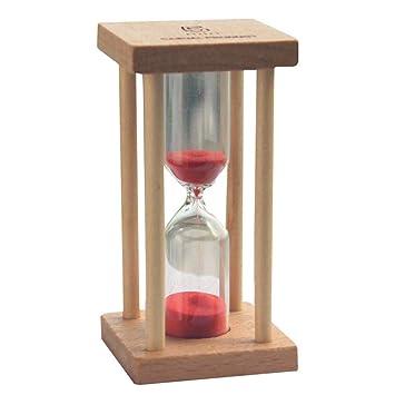 reloj de arena 5 minutos de madera Decoración,Beatie Temporizador transparente Reloj de navidad decoracion cumpleaños de vidrio,Inicio,Escritorio,Oficina ...