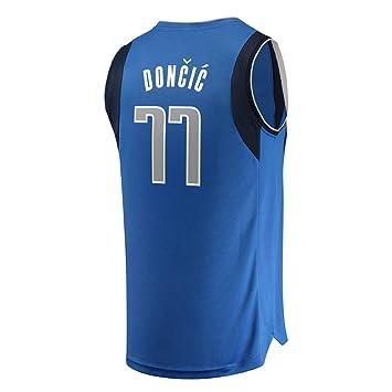 KETRL Camisa Bordada Aficionados Maveri Doncic Jersey para Hombre (Azul, M): Amazon.es: Deportes y aire libre
