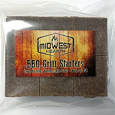 Midwest Hearth 100% Natural Charcoal Starters for BBQ Grill and Barbecue Smokers by Midwest Hearth