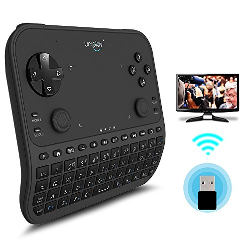 Tv Remote Control  Uniplay Latest Multi Function 2 4G Wireless Remote Control Gamepad Mouse Mini Keyboard For Android Tv Box Computer Notebook Windows Replacement Xbox 360 Tv Ps4  U6  Black
