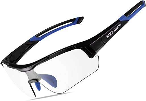 RockBros Cycling Polarized Full Frame Bicycle Glasses Goggles Black Blue Glasses