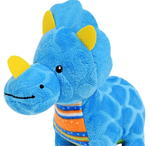 Fuzzy Friends Plush Dinosaur Toy (Blue) (8 Inch Fuzzy Bear)