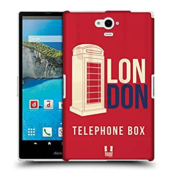 Head Case Designs Telephone Box Londons Best Protective Snap-on Hard Back Case Cover for Sharp Aquos Pad SH-06F LTE