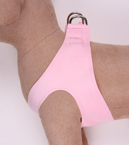 Premium Ultrasuede Step-In Dog Harness - Puppy Pink XXS