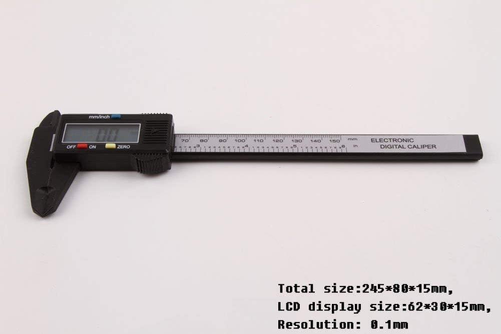 6 pulg micr/ómetro del calibrador Digital LCD ElectronicFiber Pie de Rey Romote 150 mm