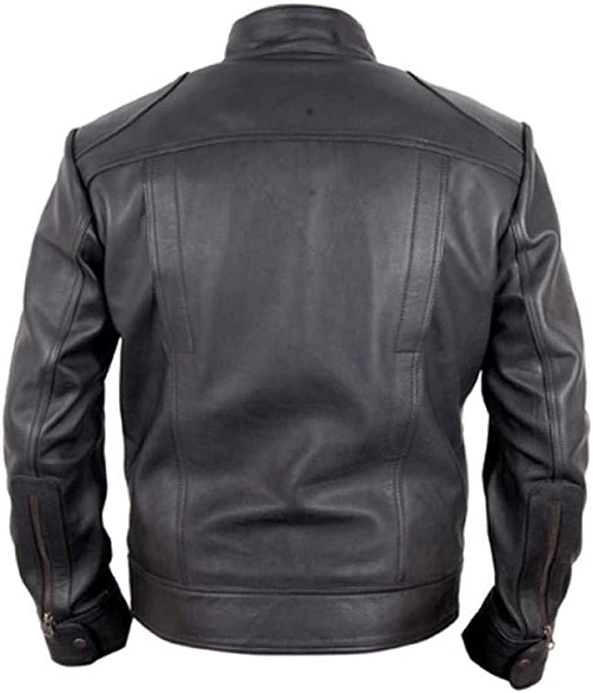 Stormwise Mens Ghosts Real Leather Girl Friend Jacket