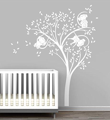 Monkey Tree Baby Nursery Wall Decal by LittleLion Studio by LittleLion Studio