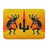 InnoDIY Custom Doormats Cactus Sunset Desert Kokopelli Southwest Home Door Mats 16 x 24 Inches Entrance Mat Floor Rug Indoor/Outdoor/Front Door/Bathroom Mats Non Slip Rubber