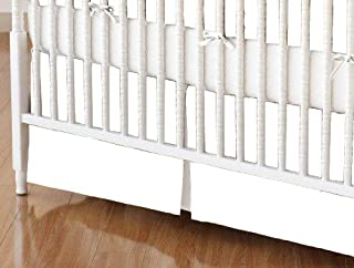 product image for SheetWorld 100% Cotton Flannel Crib Skirt 28 x 52, Flannel - White, Made in USA