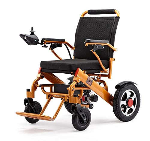 2019 ComfyGO Fold'n Go Remote Control Ultra Lightweight Electric Power Wheelchair FDA Approved and Air Travel Allowed, Heavy Duty, Mobility Motorized, Portable Power  (Gold)