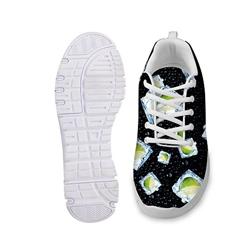 FOR Women's Breathable Running Sneaker up Fashion U DESIGNS Shoes Sturdy 4 Lace Black Stylish qtArt8xw