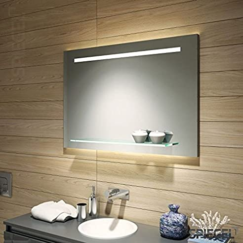 Badspiegel Mit Ablage Aus Glas Dora Wandspiegel Mit Beleuchtung 70