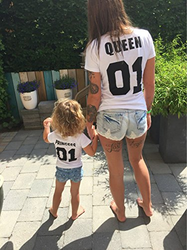 King Tops Princess Minetom Corta Tshirts Famiglia Princess San Prima Edizione Regalo Queen per Prince Maglietta Di Manica Bianco Stampa Valentino 01 dR40Rw