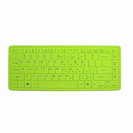 Move hecha Protector de carcasa de teclado de silicona verde ...