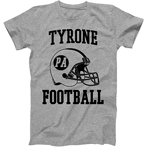 Vintage Football City Tyrone Shirt for State Pennsylvania with PA on Retro Helmet Style Grey Size Large