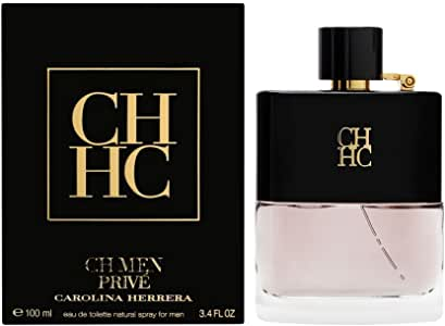 Carolina Herrera CH Men Prive Eau de Toilette, 100 Milliliter, Black