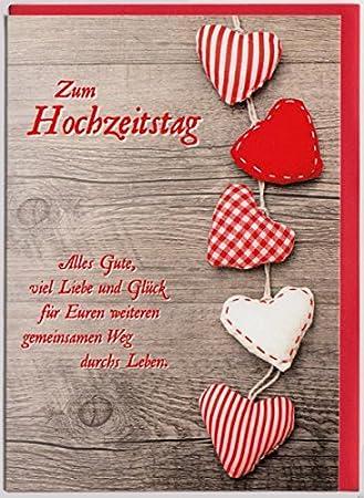 Gluckwunschkarte Zum Hochzeitstag Liebe Und Gluck Amazon De