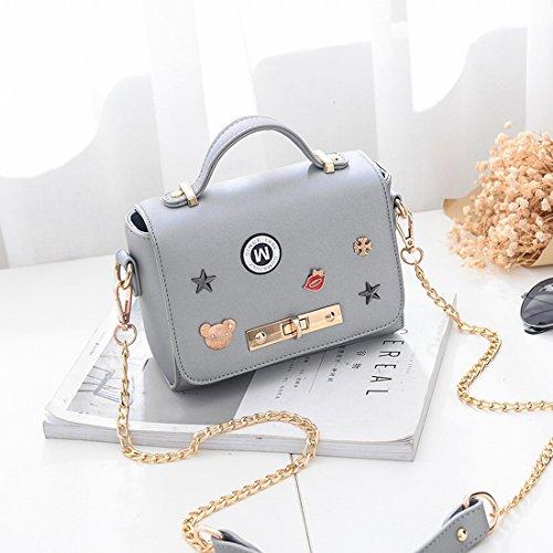 Chain Grey Bag Shoulder Lady Light Messenger Sweet Ladies qx0t0nCEw