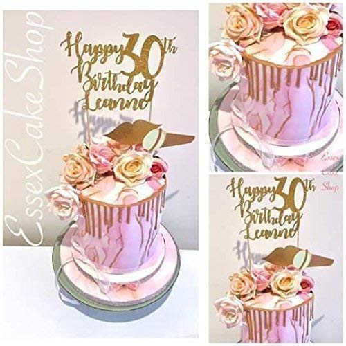 Terrific Happy Birthday Cake Topper 21St 30Th 40Th 50Th Birthday Funny Birthday Cards Online Alyptdamsfinfo