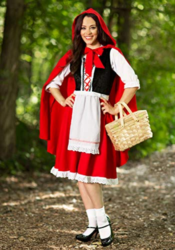 Deluxe Little Red Riding Hood Costume for Women Red Riding Hood Dress and Cape Large - http://coolthings.us