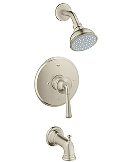 GROHE Gloucester Brushed Nickel 1-Handle WaterSense Bathtub and ...