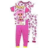 Lalaloopsy Girls 2 pack Pajamas Set (4, Pink Jewel Sparkles)