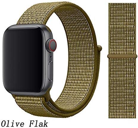JWJY ユニバーサル・ウォッチバンド44ミリメートル40ミリメートル42ミリメートル38ミリメートルのナイロンブレスレット時計バンド44/42 (Band Color : Olive Flak, Band Width : 38mm or 40mm)